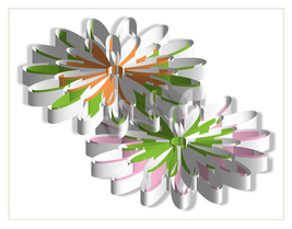 *Flowers 3D* Digital Art JPEG Image Download - $2.94