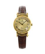 Vicence Milor 585 Men Watch Italy 14K Gold Quartz Swiss Parts Leather St... - $890.99