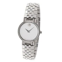 Ladies Movado 84 a1 1845s Diamond Bezel Mother of Pearl Stainless Quartz... - $1,237.50