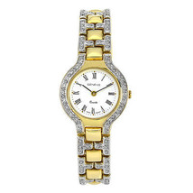 Genéve Ladies 14K Yellow Gold Watch with Pave S... - $3,008.66
