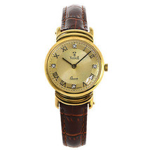 Vicence Ladies 14K Yellow Gold Wristwatch on Genuine Leather Strap - $693.00