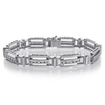 2.75 Carat Mens Diamond Bracelet 14K White Gold - $4,100.58