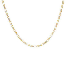 "3.0 mm Diamond Pave Cut Figaro Chain 14K Yellow Gold 24"" long - $781.11"