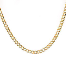 """5.5 mm Cuban Curb Link Heavy Chain Necklace 14K Yellow Gold Italy 30"""" long - $1,988.91"""