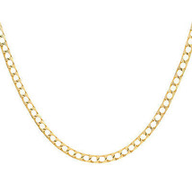 """4.00 mm Cuban Curb Link Chain Necklace 14K Yellow Gold 20"""" long - $1,365.21"""