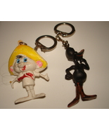 VINTAGE DAFFY DUCK AND SPEEDY GONZALES LOONEY TUNES FIGURAL PLASTIC KEY ... - $6.99