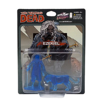 The Walking Dead Ezekiel & Chiva Figure PVC Mini Translucent Blue 2-Pack... - $33.75