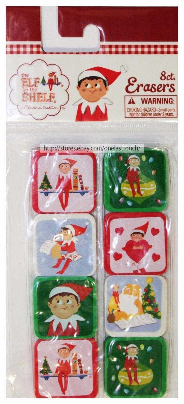 RAYMOND GEDDES*(1)8pc Set CHRISTMAS/HOLIDAY ERASERS Designs May Vary YOU CHOOSE*