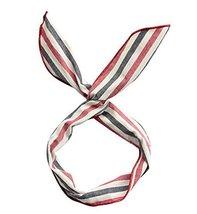 Fashion Lovely Rabbit Ears Wide Stripe Headband Hair Accessories Dark BLUE