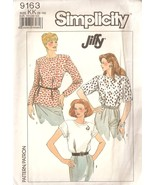 Jiffy pullover blouse sewing pattern misses sizes 8 12 simplicity 9163 complete 1 thumbtall
