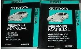 2001 Toyota Celica Service Repair Shop Workshop Manual Set Brand New 2001  - $237.60