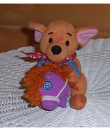 "Winnie Pooh Plush 6"" Kanga Roo Rides Stick Horse Mattel Star Bean - $4.79"