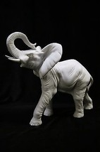 Lucky Elephant Italian Statue Sculpture Figurine Home Decor Made in Italy  - $99.95