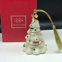 LENOX CHRISTMAS ORNAMENT very merry porcelain nib box figurine Tree holi... - $27.72