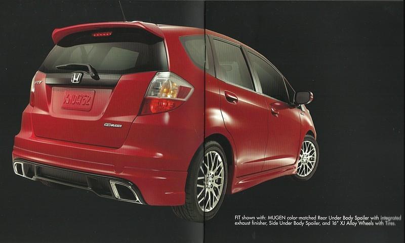 2009/2010 Honda FIT MUGEN parts accessories brochure catalog