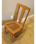 Vintage Childs Rocking Chair, Birds Eye Maple, Cane Bottom - $138.59