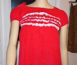 girls Hanna Andersson Christmas XMas Holiday red dress 8 cap sleeve cord... - $24.74