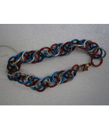 USA Flag spiral bracelet with copper lobster clasp - $12.00
