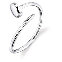 Women's Fashion Jewelry White Gold Plated Solid 925 Sterling Silver Screw Ring - £12.91 GBP