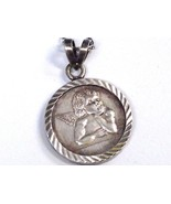 "Fine 999 Pure Silver Guardian Angel "" Coin""  Pendant Sterling 925 Chain Necklace - $29.69"