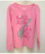 Justice L 14 Top Pink Guitar Girls Rock Like It Or Not Long Slv Back to ... - $7.83