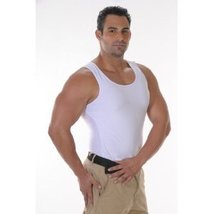 Mens Compression Girdle Shirt White Small Vest Underwear Shapewear BodyS... - $15.00