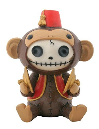 """2.75 Inch Furrybones Awesome Mouse Costume /""""Hands Up/"""" Sitting Skeleton Figurine"""