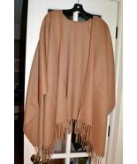 NWT $225 PORTOLANO 100% Wool Shawl Ruana Fringe... - $77.32