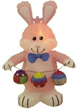 4 Foot Party Inflatable Bunny W / Color Eggs - Yard Decoration Lawn - $124.73