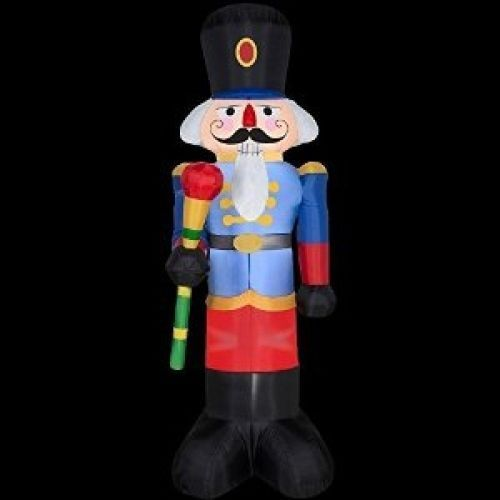 Christmas inflatable 6 1 2 39 nutcracker yard prop for Airblown nutcracker holiday lawn decoration
