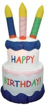 6 Foot Inflatable Happy Birthday Cake With Candles Yard Decoration - $153.44