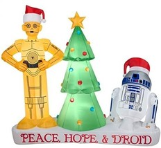 6 Ft Star Wars Droids Christmas Inflatable With Internal Light - $275.21