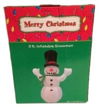 3ft Inflatable Frosty Snowman Christmas Holiday... - $97.01