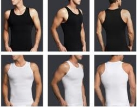 2pack  1 Black 1 White Mens Compression Girdle Shirt Vest Underwear Body... - $35.00