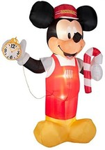 Licensed Christmas Outdoor Decorations Mickey Train Conductor Airblown, ... - $167.30