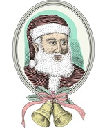 3 Father Christmas-Digital Clipart-Christmas-Card - $3.00