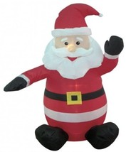 4-foot Christmas Inflatable Santa Claus Blow-Up Yard Decoration - $99.98