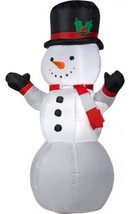 Holiday Time Snowman Inflatable Lawn Decoration... - $93.05