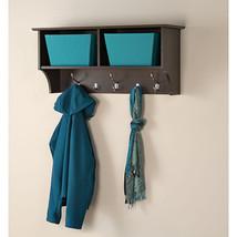 Hanging Entryway Coat Rack Wall Shelf Storage Organizer Hook Cubby Mount... - $132.06