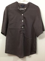 Brown Soft Light Weight Joie Llari 3/4 Button Down Top size small by GAP - $36.76