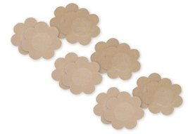 Fashion Forms Women's Satin Petals 6 Pairs, Nude, One Size - $19.59