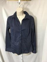 #334--  - H&M navy blue lightweight shirt top, size 8- - $6.13