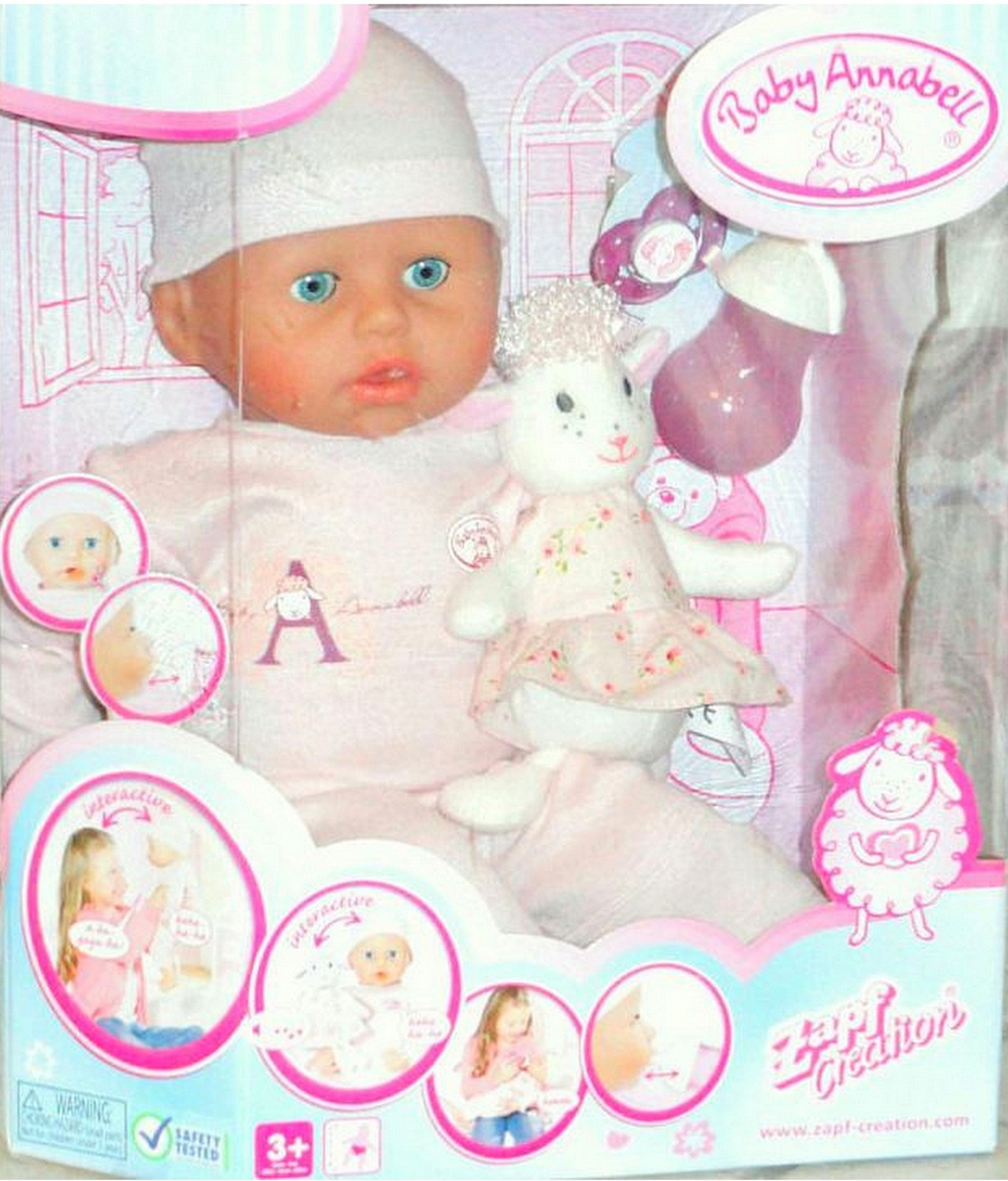 Baby Annabell Girl Doll 18 in. Lifelike Interactive Cries Real Tears Version 5