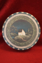 Beth Vincent-Stephens Shallow Cookie Tin - Rustic House - 2002 - $4.99