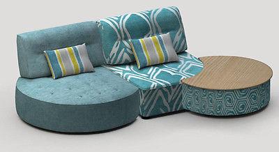 Kristin 3 Sectional Sofa Modular Contemporary Modern Lifetime Warranty Spain