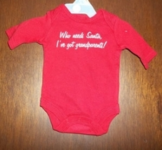 Preemie & Newborn Baby's Christmas Long Sleeved Onesie - $6.00