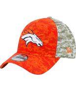 DENVER BRONCOS NFL SALUTE TO SERVICE SIDELINE HAT NEW ERA MEDIUM / LARGE - $59.99