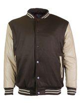 New Men's Premium Classic Snap Button Vintage Baseball Letterman Varsity Jacket image 9