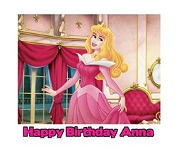 Sleeping Beauty Princess Aurora Image Photo Cake Topper Sheet Personaliz... - $8.50