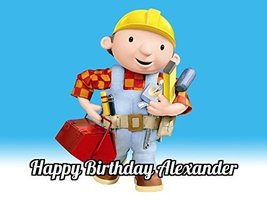 Bob The Builder Edible Image Photo Cake Topper Sheet Personalized Custom... - $8.50